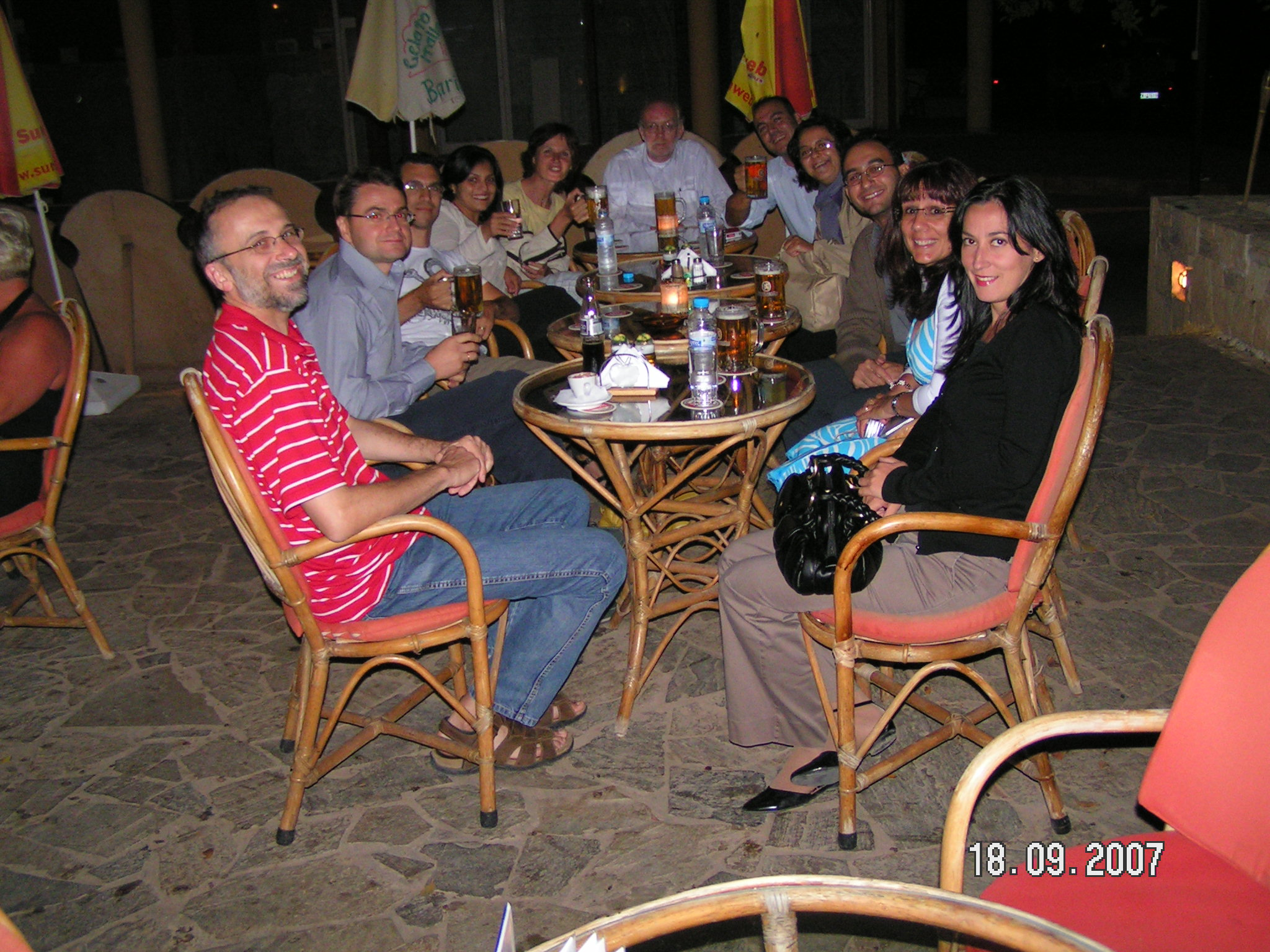 Wining and dining with workshop participants
